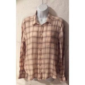 American Eagle Outfitters Women's Flannel Top